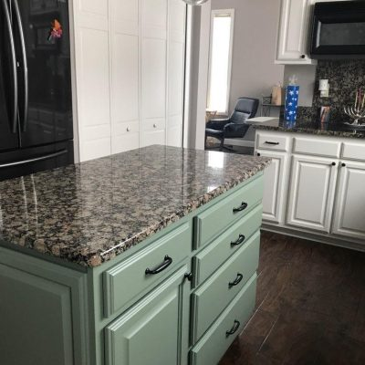 Kitchen Cabinet Island Painting