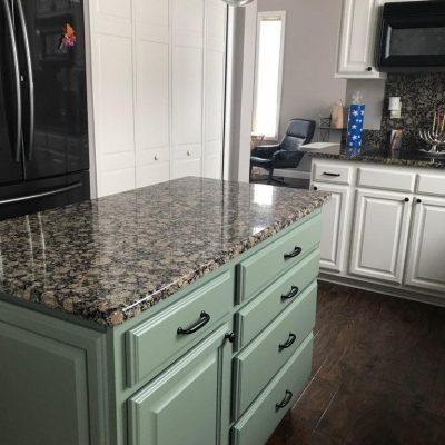 Kitchen Cabinet Island Painting
